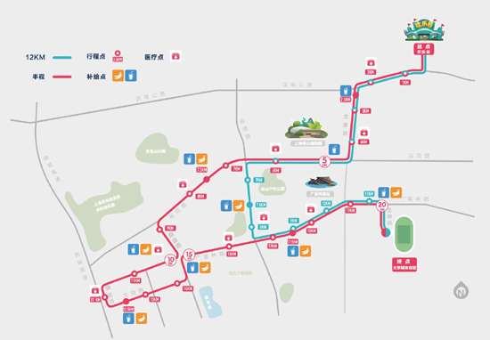 上海松江半程马拉松赛路线图-一条江一座城 2016首届松江半程马拉松图片